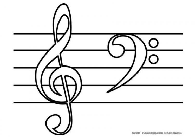 Notes de musique Coloring book note 8